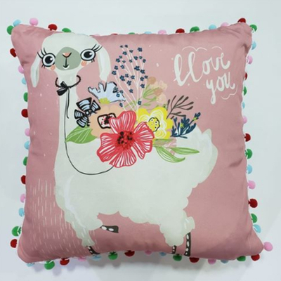 Capa de Almofada Lhama Love You 43x43cm - Jolitex