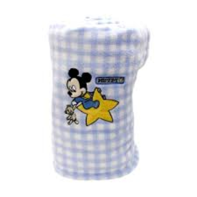 Manta Disney Baby Bordado Mickey - 100% Microfibra - Jolitex