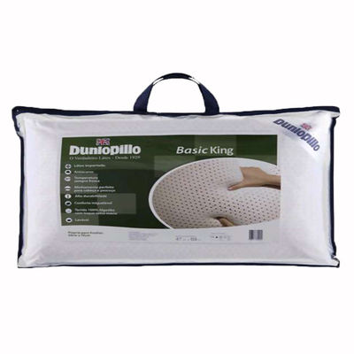 Travesseiro Basic King 50x90cm - Látex - 230 Fios - Dunlopillo