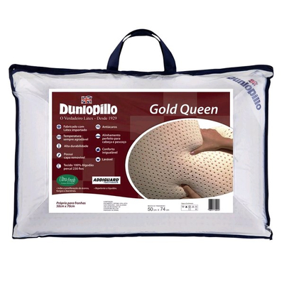 Travesseiro Gold Queen 50x70cm - Látex - 230 Fios